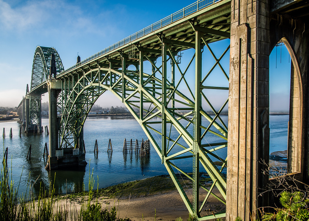 Yaquina Bay Bridge, Newport, OR, USA