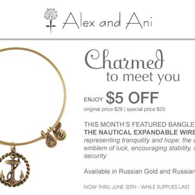 Alex and Ani's June Featured Bangle Toasts Nautical Newport Style–at a Fashionable Discount!