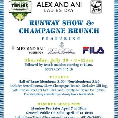 THURSDAY: Alex and Ani Ladies Day at the THOF Also Featuring Fila & Brooks Brothers