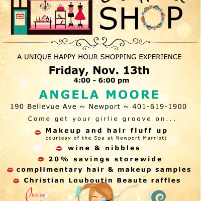FRIDAY: Glammy Hour Before Happy Hour at Angela Moore