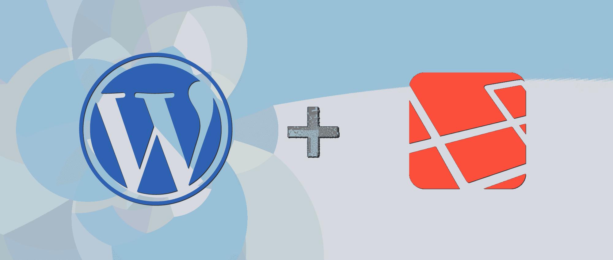 WordPress + Laravel logos