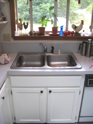 sink1 White Kitchen Faucet Pull Out Spray