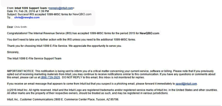 irs accepted email