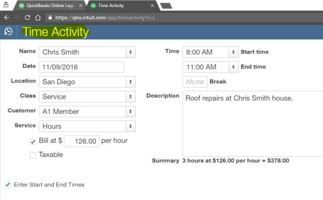 single-time-activity