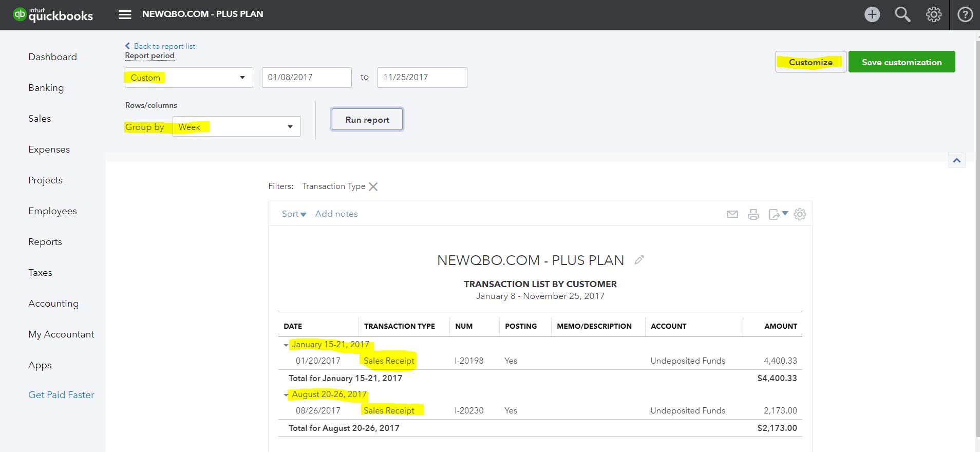 Sales Receipt NEWQBOCOM - Making receipts for customers
