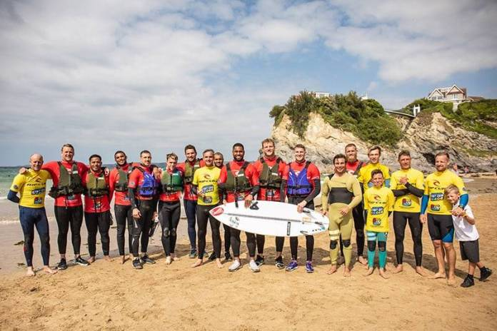 England Rugby Team Watersports Activity Newquay Cornwall