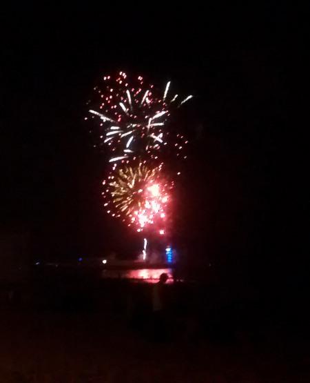 Beach Fireworks Display