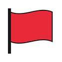 Red flag RNLI