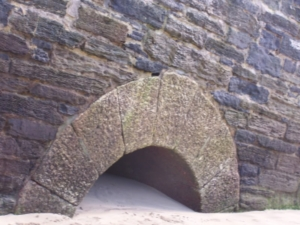 Arch of Tunnel, South Quay, Newquay Harbour