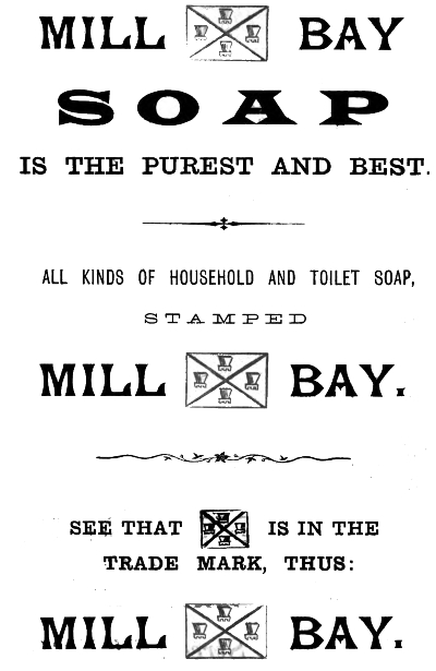 Mill Bay Soap Advert
