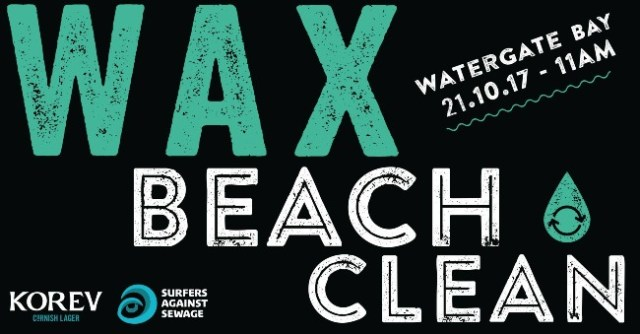 Watergate Bay Beach Clean Wax Watergate 21 October 2017