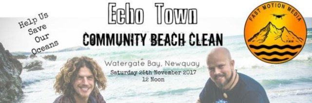 Newquay Beach Clean Watergate Bay November 2017