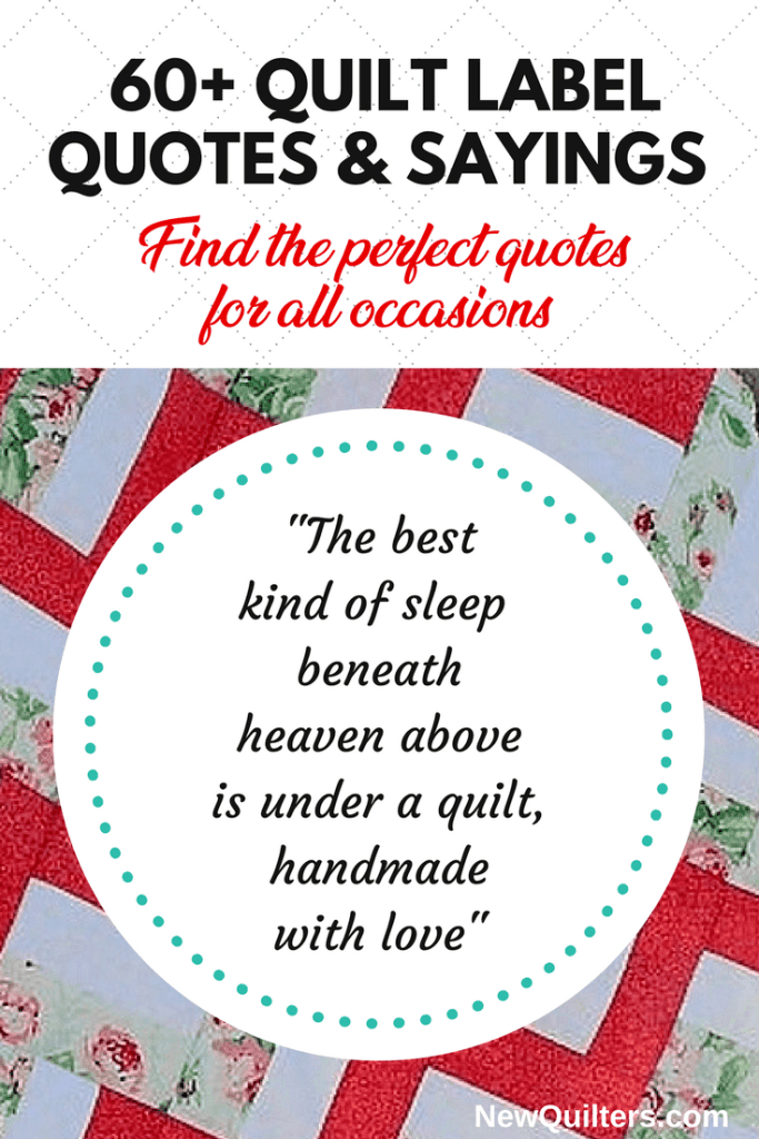 Image of quilting quote on label