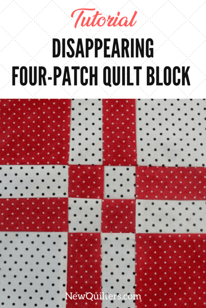 Photo of disappearing four-patch quilt block