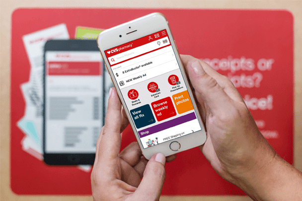 CVS Pharmacy app gives members easy access to their credits and coupons and even reminds in-store customers when there's a relevant deal available in the app.