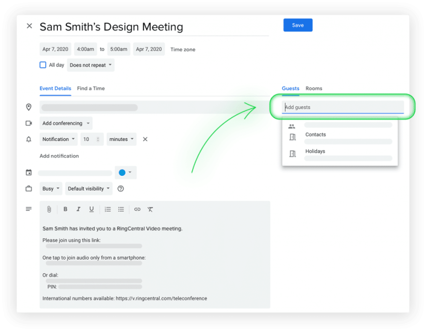 The RingCentral G Suite Add-on simplifies communication within Gmail and Calendar