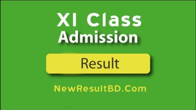 XI Class Admission Result, HSC College Admission Result, Merit List