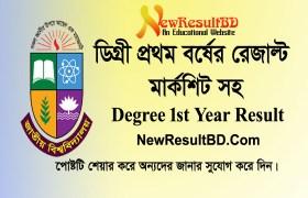 Degree 1st Year Exam Result 2019 Marksheet, NU Results D1, nu.ac.bd/results, Degree First Year Result, National University DEG Result by Online & SMS Way.