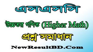 SSC Higher Math MCQ Solution