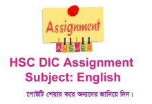 HSC DIC English Assignment
