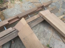 Half dovetails in the legs