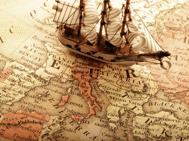 old-map-and-ship-model-wallp-long-goodbye