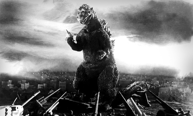 Godzilla in a scene from the film.