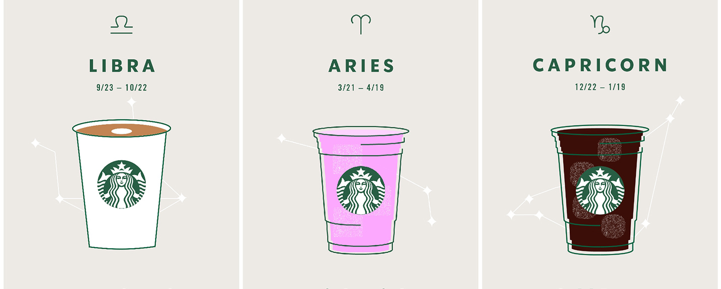 Starbucks elege a bebida preferida de cada signo