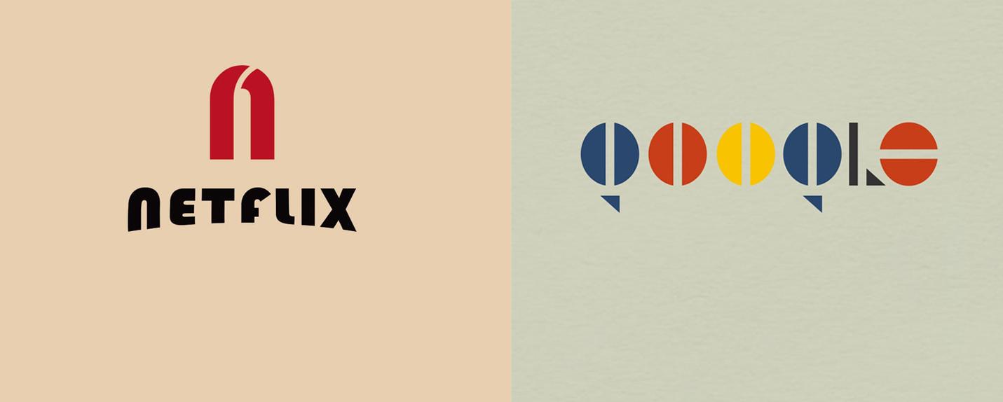 Designers repensam logos de marcas famosas