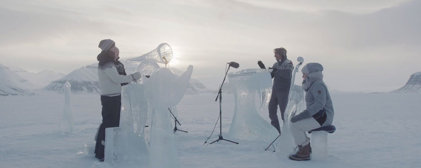 Como seria uma orquestra com instrumentos de gelo?
