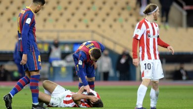 Photo of شاهد – لقطة ضرب ميسي للاعب بلباو وتلقيه البطاقة الحمراء الأولي مع برشلونة