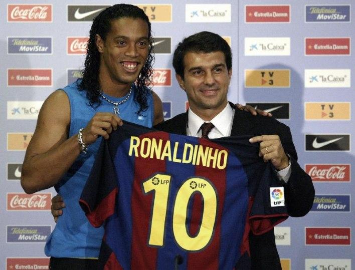 خوان لابورتا مع رونالدينيو