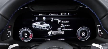 Compteur de la nouvelle Audi R8 identique a celui de la nouvelle TT