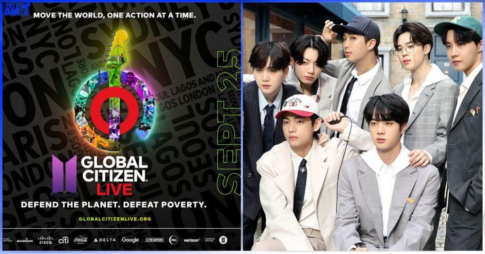 """၂၄ နာရီကြာ ကျင်းပပြုလုပ်မယ့် """"Global Citizen Live"""" အထူးရန်ပုံငွေပွဲမှာ ပါဝင်ဖျော်ဖြေသွားမယ့် BTS"""
