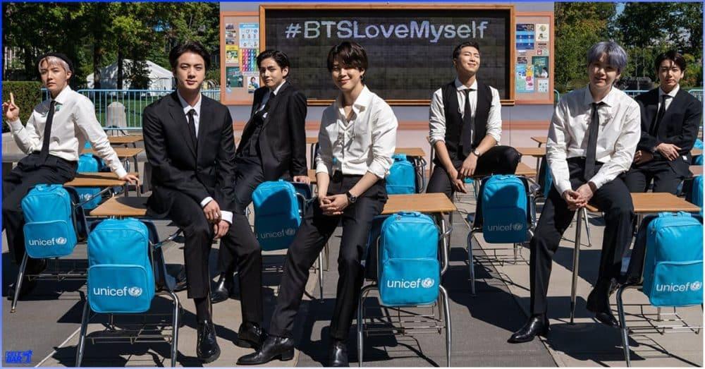 UNICEF အဖွဲ့အစည်းမှာ ကျပ်သိန်းပေါင်း သောင်းချီပြီး လှူဒါန်းမှုပြုလုပ်ထားတဲ့ BTS အဖွဲ့