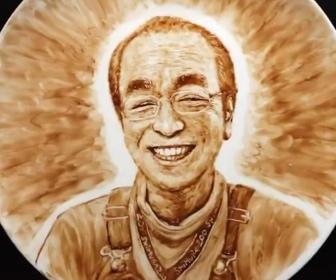 志村けんを描いたアート
