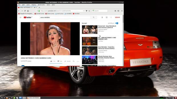 RaspArch's desktop – YouTube running