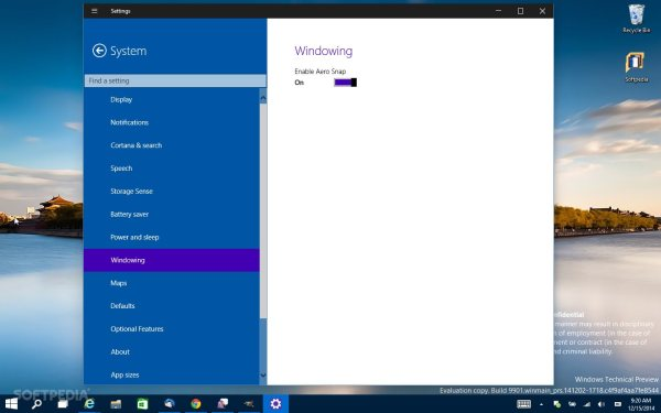 Aero Settings Show Up on Windows 10 Build 9901 [Updated]