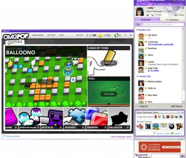 Social Games In Yahoo Messenger 11 Beta