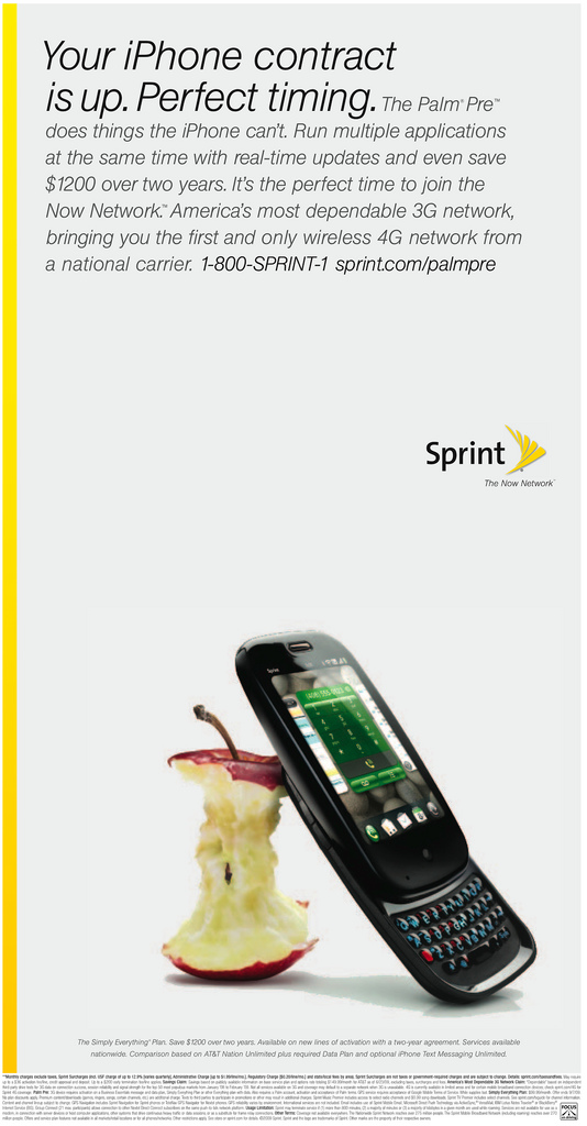 Sprint Picks on iPhone with Palm Pre