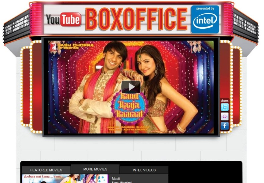 YouTube Launches Ad Supported Channel for Bollywood Movies YouTube launches Bollywood movies channel