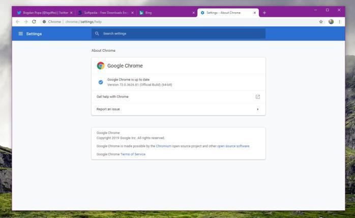 Google Chrome 72 on Windows 10
