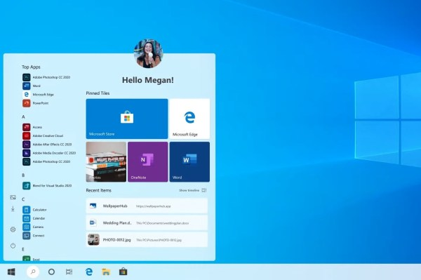 This Start Menu with Round Corners Is What Windows 10 20H1 ...