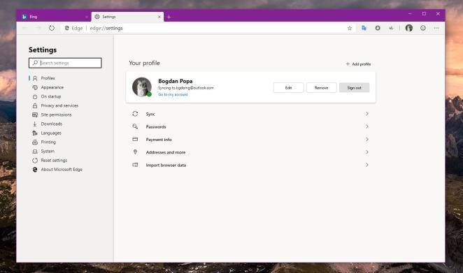 Navegador Microsoft Edge baseado em cromo