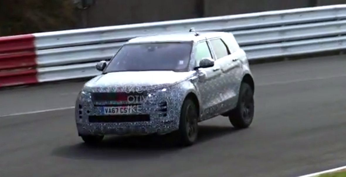 Обновленный Range Rover Evoque замечен на Нюрбургринг