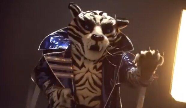 "Белый тигр на шоу ""Маска"", скриншот"