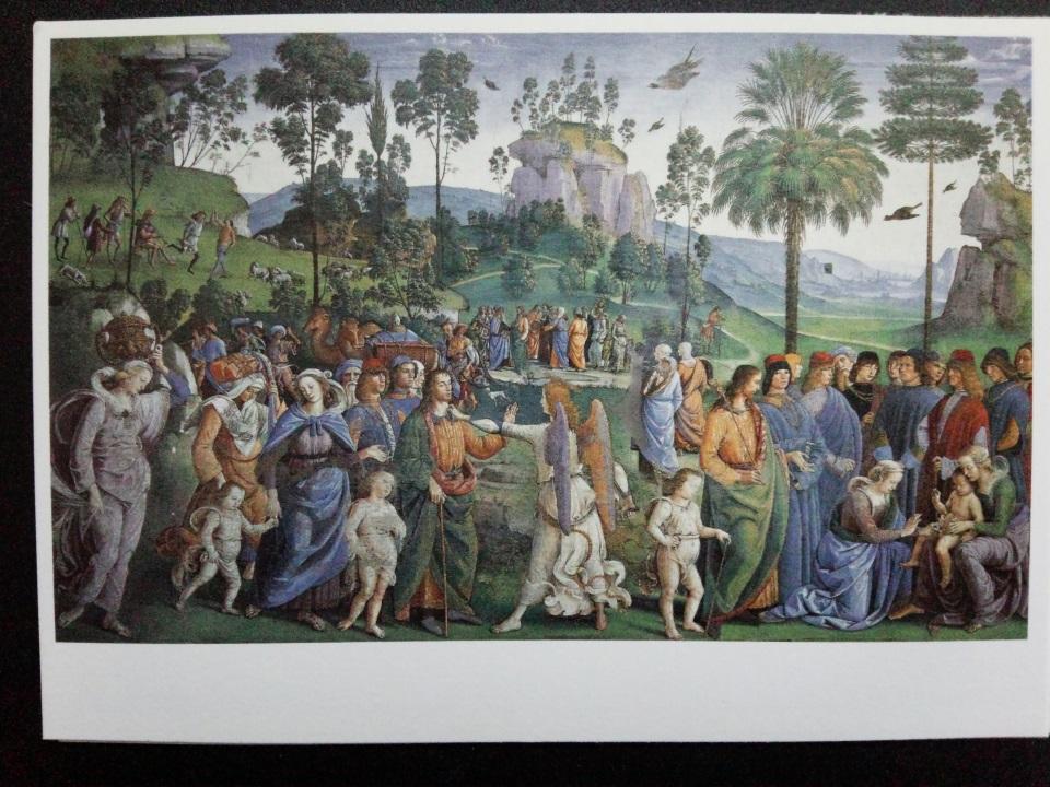アートカードブック ペルジーノ「モーセのエジプトへの旅」