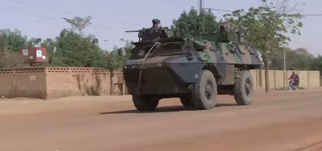French troops on patrol during Operation Serval in Mali, 2013.