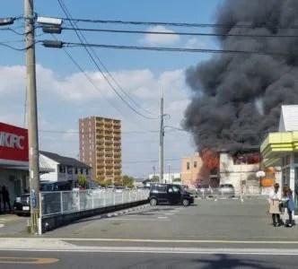 画像・動画あり。ゆめタウンはません付近で火災(熊本県熊本市南区)
