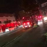 fire scene 北海道苫小牧市大成町1丁目付近で火災
